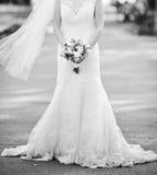 Belle robe de mariage Image stock