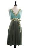 Belle robe faite main sur le manequin Photo stock