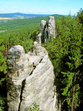 Belle roche dans le paradis de Bohème Images libres de droits