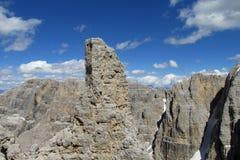 Belle roche de dolomites Images libres de droits