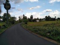 Belle route Images libres de droits