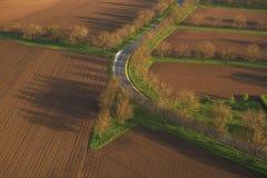 Belle route Photos libres de droits