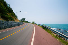 Belle route Photo libre de droits