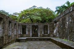 Belle rovine conservate di Santiago forte, Manila, Filippine fotografia stock libera da diritti