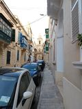 Belle rue à La Valette photo stock
