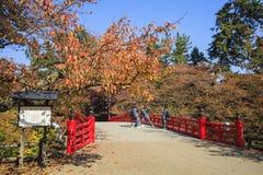 Belle saison au parc de château de Hirosaki dans Hirosaki, Aomori images libres de droits