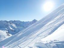 Belle saison d'hiver dans Kuhtai photographie stock libre de droits