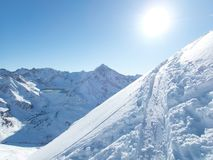 Belle saison d'hiver dans Kuhtai photos libres de droits