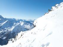 Belle saison d'hiver dans Kuhtai image stock
