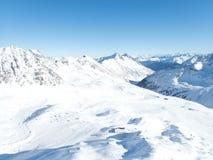 Belle saison d'hiver dans Kuhtai image libre de droits