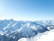 Belle saison d'hiver dans Kuhtai photo libre de droits