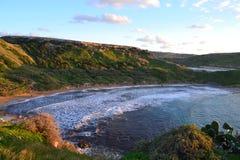 Belle scène d'Ein Tuffeiha au nord-ouest de Malte Photo libre de droits