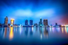 Belle scène de l'amour Pier At Dusk, située à Kaohsiung, Taïwan photo libre de droits