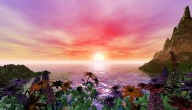 Belle scène tropicale Photos libres de droits