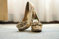 Belle scarpe della sposa Immagini Stock