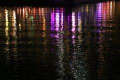 Belle scene di notte della città di Bergen Immagini Stock