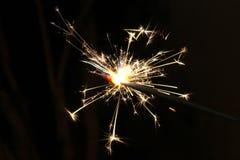 Belle scintille del fuoco d'artificio Fotografie Stock Libere da Diritti