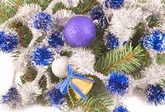 Belle sfere blu Immagini Stock