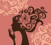 Belle silhouette de femme Photos libres de droits