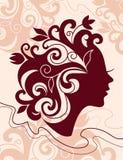 Belle silhouette de femme Images stock