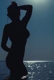 Belle silhouette de fille Photo libre de droits