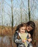 Belle sorelline Fotografie Stock Libere da Diritti