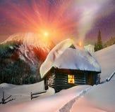 Belle sorgere della luna sopra il Montenegro Fotografie Stock