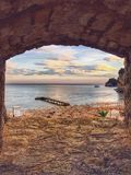 Belle spiagge di Budua, Montenegro fotografia stock