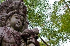 Belle statue de Guanyin au temple d'Eikando à Kyoto image stock