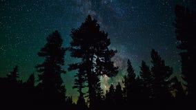 Belle stelle e galassia di notte nel cielo immagine stock
