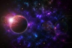 Belle stelle, pianeti su cielo notturno royalty illustrazione gratis