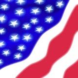 Belle stelle vaghe della bandiera americana illustrazione di stock