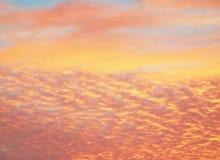 Belle strutture arancioni del cielo Immagini Stock Libere da Diritti