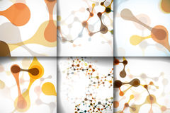 Belle strutture stabilite della molecola del DNA Fotografia Stock