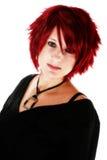 Belle tête rouge images stock