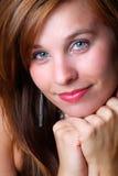 Belle tête rouge photos stock