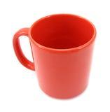 Belle tasse rouge Photo libre de droits