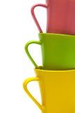 Belle tazze di colore Fotografie Stock Libere da Diritti