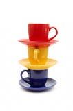 Belle tazze di colore Fotografia Stock Libera da Diritti