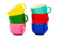 Belle tazze di colore Immagini Stock Libere da Diritti