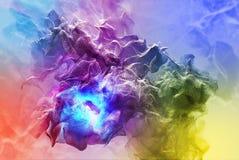 Belle tempête de poussière abstraite, illustration 3d Images libres de droits
