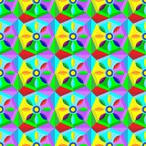 Belle texture abstraite avec des formes géométriques et des étoiles Image stock