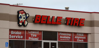Belle Tire Ann Arbor storefront Royalty Free Stock Images