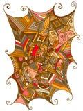 Belle toile d'araignée décorative, illustration de couleur des enfants s illustration stock