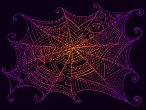 Belle toile d'araignée décorative, style de vintage Photographie stock libre de droits