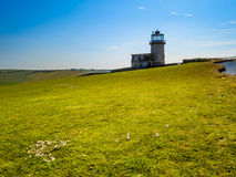 The Belle Tout lighthouse on top of Beachy Head, Eastbourne. East Sussex, England Royalty Free Stock Photography