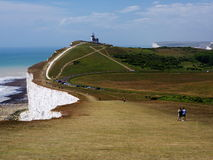 Belle Tout Lighthouse. On the way to Belle Tout Lighthouse, Seven Sisters cliffs Stock Images