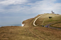 The Belle Toute Lighthouse at Beachy Head in Sussex Stock Photos
