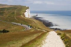 Belle Toute Lighthouse på det Beachy huvudet i Sussex på Maj 11, 2 Royaltyfri Bild