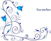 Belle trame avec les fleurs bleues illustration de vecteur